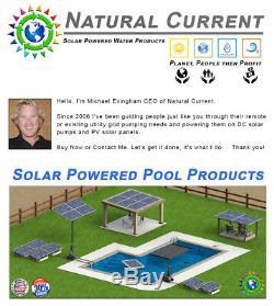 0.5HP SunRay Solar Powered Pool Pump DC Motor Inground 1 330w 36v Panel Pond