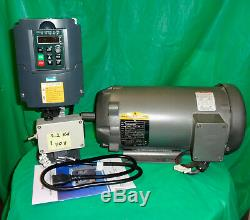 1.5 HP Motor & Variable Speed Control Kit with Forward & Reverse-110V Input