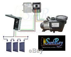 1.5HP SunRay Solar Swimming Pool Pump DC Brushless Motor Inground 120v USA Pond