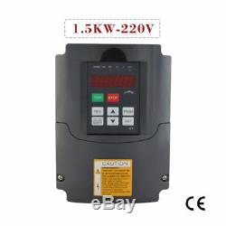 1.5kw 220v 2HP 7A Variable Frequency Drive Inverter VFD Motor Speed Controller