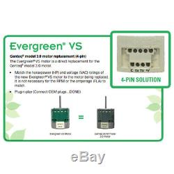 1 HP ECM Variable Speed Evergreen Replacement Motor # 6510 6510V 5SME39SXL3222