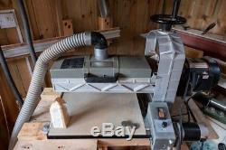 16 32 1HP Drum Sander with rubberised feed belt & variable speed feed motor