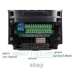 2.2KW 220V VFD CNC Spindle Motor Speed Control Variable Frequency Drive 1HP or