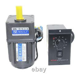 220V 15W AC Gear Motor Speed Controller 110 125RPM Electric Motor Variable Spee