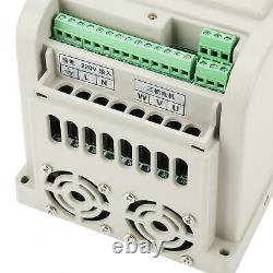 220V 1PH Variable Frequency Drive VFD Speed Controller for 3-Phase 4kW AC Motor