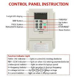 220V 4KW Motor Speed Control Variable Frequency Drive Inverter Single to 3 Phase