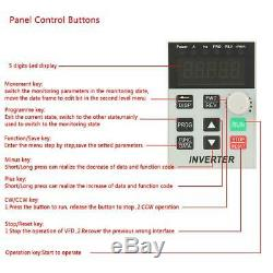 220V Variable Frequency Drive VFD Speed Controller for 1.5kW Single-phase Motor