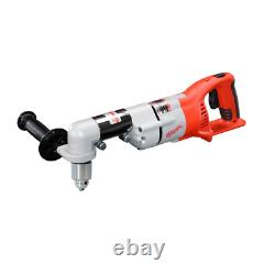 28V Lithium Ion Cordless Right Angle Drill Brushed Head Swivels 360° Power Motor