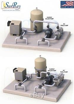 2HP SunRay Solar Swimming Pool Pump DC Brushless Motor Inground V 180v USA Pond
