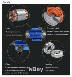 4500RPM Variable Speed Control Vibrating Motor 12V 15W For Packing Feed Machine