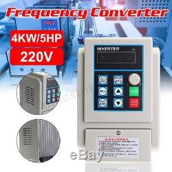 4KW 5HP Variable Frequency Drive Inverter CNC Motor Speed Single To 3 Phase 220V