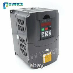 4KW VFD Variable Frequency Drive Inverter 5HP 220V Motor Speed control 18AUK