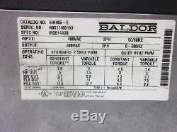 5 HP Baldor Inverter Variable Speed Motor Control Ihh405-e 480 Vac, 3 Phase