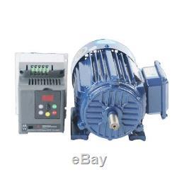 500-1400rpm Low rpm Motor Variable Speed AC Motor AC220V 1.5KW + VFD Inverter