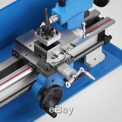 550W Motorized Mini Metal Lathe Metalworking Drilling Variable Speed Bench Top