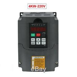 5HP 220V 4KW Variable Frequency Inverter VFD For Spindle Motor Speed Control NEW