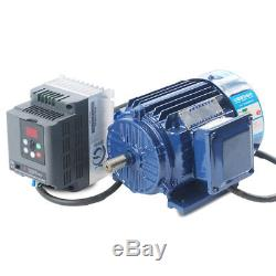 600-2800rpm AC220V 2.2KW Low rpm Motor Variable Speed AC Motor+ VFD Inverter New