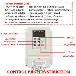 AC 220V Variable Frequency Drive VFD Speed Controller For 3-phase 4kW DC Motor