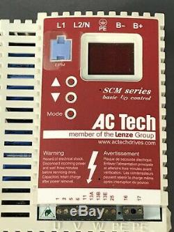 AC Tech SM015S Variable Speed AC Motor Drive 1.5 HP 120V 1 PH In 0-230V 3 PH Out