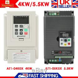 AC220V Single To 3-phase Variable Frequency Drive Speed Controller 4/5.5kW Motor