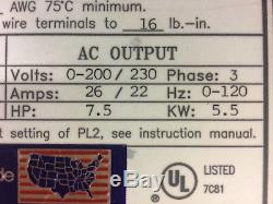 Ac Tech Q22008pc Variable Speed Motor Drive 7.5hp 5.5kw 200/240vac 3phase