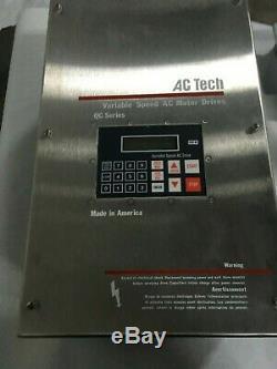 Ac Technology, Q24005e, Variable Speed Ac Motor Drive, 460v, 5hp, S/n 52619-709