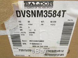 Baldor Variable Speed AC Motor DVSNM3584T 1.5HP 1800RPM FR145TC ENCLTENV
