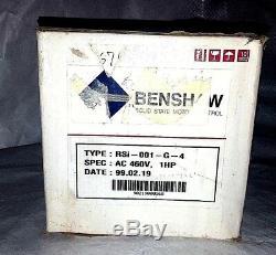 Benshaw RSI-001-G-4 AC Variable Speed Drive Uni-Torque Motor Control 1 HP NEW