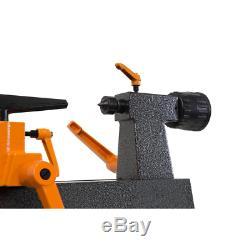 Black 8 x 12 Mini Benchtop Wood Lathe 3.2 Amp Motor Variable Speed Power Tool