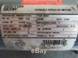 Boston Gear PM975BTF-I-SPL Variable Speed DC Electric Motor 3/4 HP 90v 1725 RPM