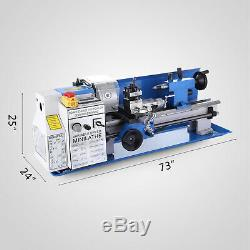 CJ18A 7x14 Mini Lathe Blue Accessory Package DC Motor Bench Top Variable Speed