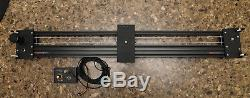 Camera slider dual track motorised and variable speed with remote control