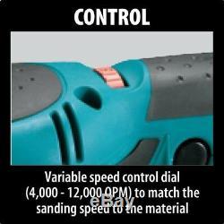 Corded Random Orbital Sander 5in 3 Amp Electric Motor Variable Speed Dust Bag