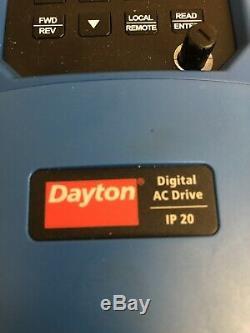 DAYTON 32J572 Variable Freq Drive, 2HP, 115/208-230V AC Motor speed control