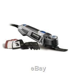 Dremel Oscillating Multi-Tool Kit 5 Amp Motor Corded Keyless Chuck 30 Accs. Bag