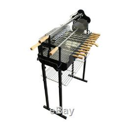 Flaming Coals Deluxe 3mm Cyprus Spit Roaster Rotisserie Charcoal BBQ Grill
