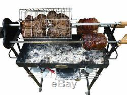 Flaming Coals Deluxe 3mm Roaster Rotisserie Charcoal BBQ Grill Cyprus Spit