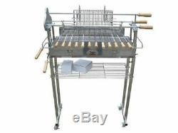Flaming Coals Deluxe Stainless Steel Cyprus Spit Roaster Charcoal BBQ Grill