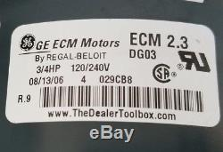 Ge 2.3 Ecm 3/4 HP Variable Speed Motor 5sme39sl0674 46132-011 (7441)c4 Ap