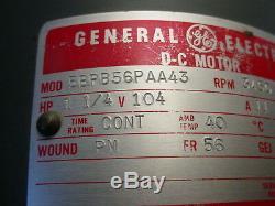 Ge #5bpb56paa43 104 VDC Motor 1-1/4hp 3450 RPM Reversible Variable Speed