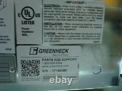 Greenheck Sq-95-vg-6-x Centrifugal Inline Fan Variable Speed Direct Drive Nnb