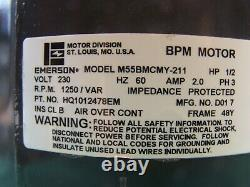 ICP HQ1012478EM 1012478 OEM 1/2HP BPM Variable Speed Motor Emerson M55BMCMY-211