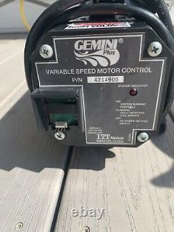 ITT MARLOW Gemini Plus Variable Speed Jacuzzi Pump, Motor & Controller