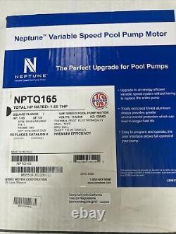 Intelliflo Sta-Rite Whisper Variable Speed Pool Pump Motor 48y Frame NPTQ165