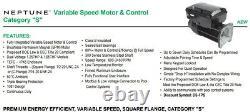 Intelliflo Sta-Rite Whisper Variable Speed Pool Pump Motor with Control NPTQ270