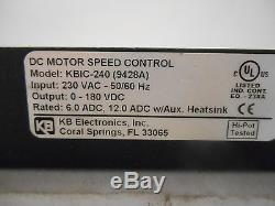 Kbic Solid State Variable Speed Kbic-240 DC Motor Control, 6/12/18 Amps, New