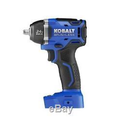 Kobalt Cordless Impact Wrench Brushless Motor Variable Speed 24 Volt Power Tool