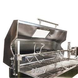 Large 1.5m Stainless 30-100kg Hooded Spit Roaster Rotisserie Charcoal BBQ Grill