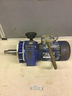 MOTOVARIO ELECTRIC MOTOR WITH VARIABLE SPEED GEARBOX MARKED 240v 415v