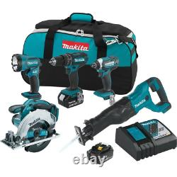Makita Combo Kit 18-Volt Lithium-Ion Cordless Variable 2-Speed Brushed Motor